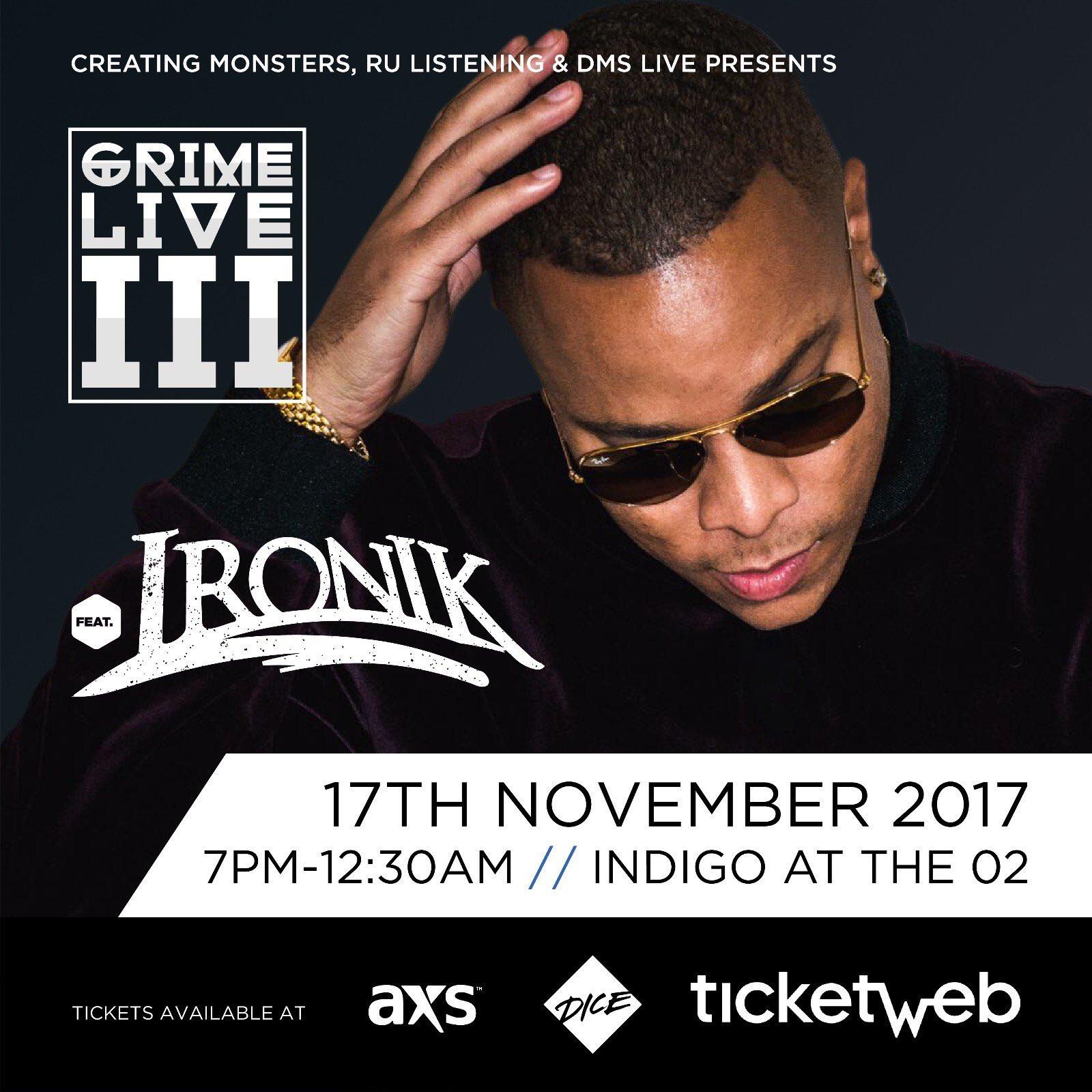 LONDON / GRIME LIVE III // NOV 17th // CATCH ME HOSTING @ INDIGO AT THE O2!  🎉🔉🔥 https://t.co/DCDL33BQwP