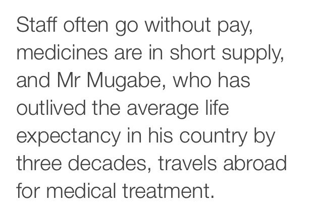 "Three quite good reasons why Robert Mugabe's ""health ambassador"" role was cancelled https://t.co/PITM8h47FL"