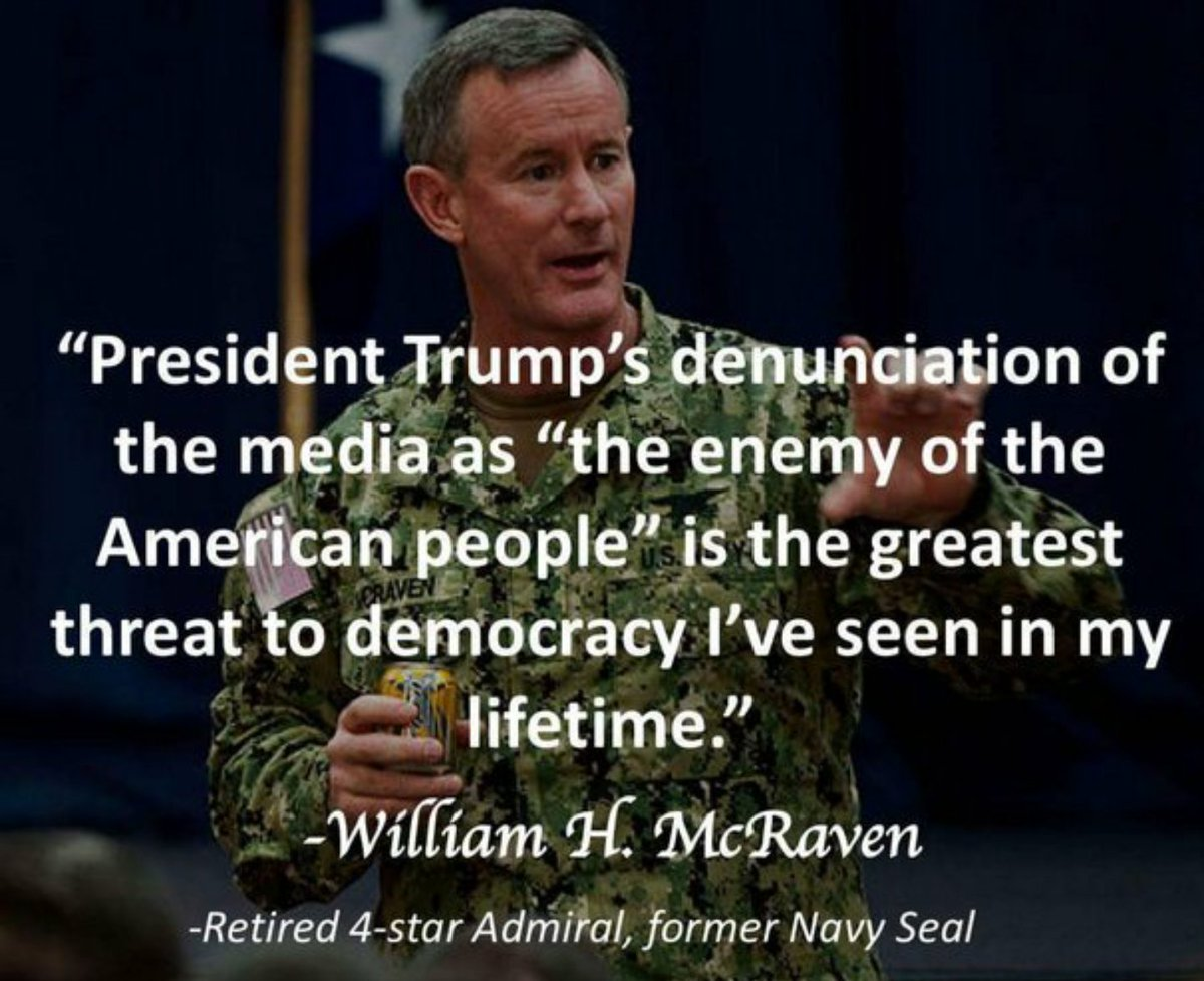 Four Star Admiral, Navy Seal William McRaven, &quot;Donald Trump ... greatest threat to democracy.&quot; #PoliticsNation #mSnBc #AMJoy<br>http://pic.twitter.com/PNKYyYYOjF