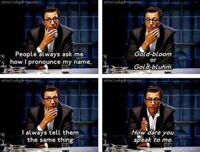 I m wishing a very Happy Birthday to my fellow Libran Jeff Goldblum, with my favourite anecdote of his: