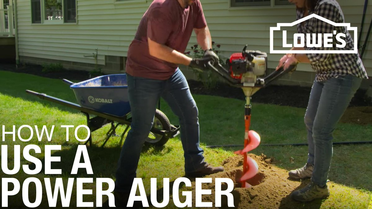 #HowTo Use a Power Auger Step by step video with everything you need to know!   http:// sm.lowes.com/gtD2cn  &nbsp;   <br>http://pic.twitter.com/aU8681z7Ld