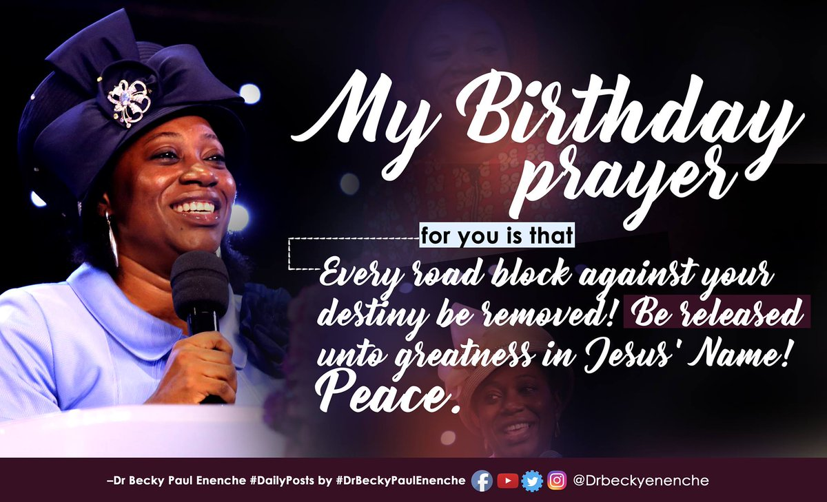 Awe Inspiring Dr Becky Paul Enenche On Twitter My Birthday Prayer For You Is Funny Birthday Cards Online Alyptdamsfinfo