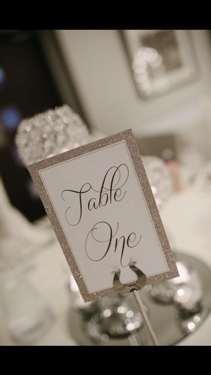 always lovely to see my work in situ wedding stationery glitter tableplan