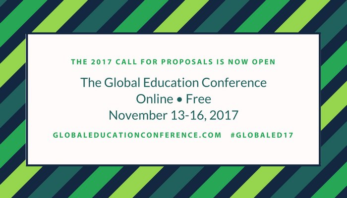 Present at and/or attend the online Global Education Conference!  Details here:  http:// ow.ly/dbGj30g31vx  &nbsp;   #Erasumus #ErasmusPlus #etwinning<br>http://pic.twitter.com/8kKV9f6I8Y