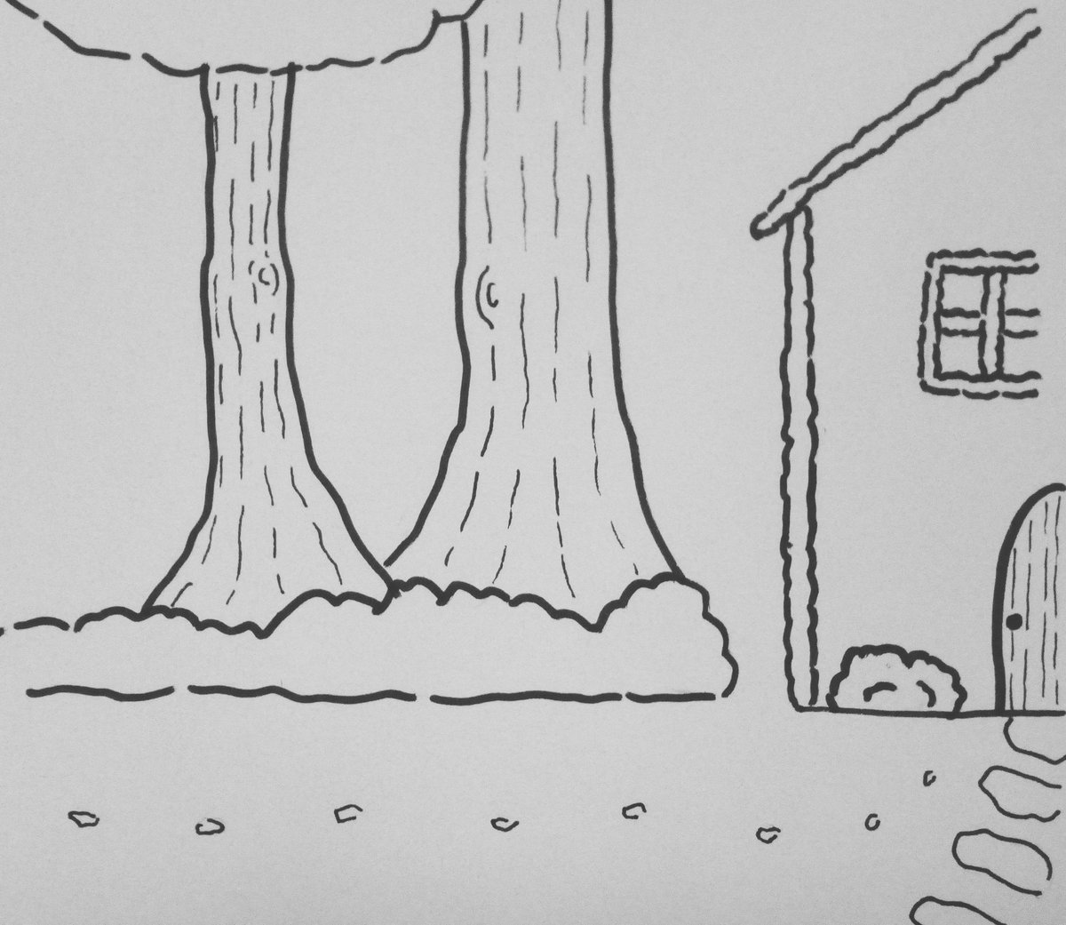 #inktober day 22 Trail #inktober2017 #illustration #sketch #drawing #art #artist #pen #trail #hanselandgretel #candyhouse #grimmbrothers<br>http://pic.twitter.com/rLXE3rDWvU