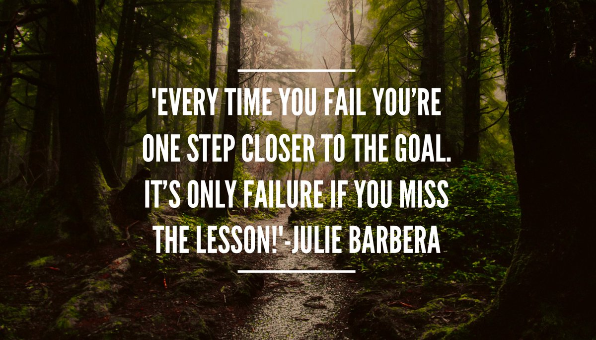 &#39;#NeverGiveUp Every time you fail you&#39;re #onestep closer to the #goal It&#39;s only #failure if you miss the #lesson !#ThinkBIGSundayWithMarsha<br>http://pic.twitter.com/lsVy2WL9BY