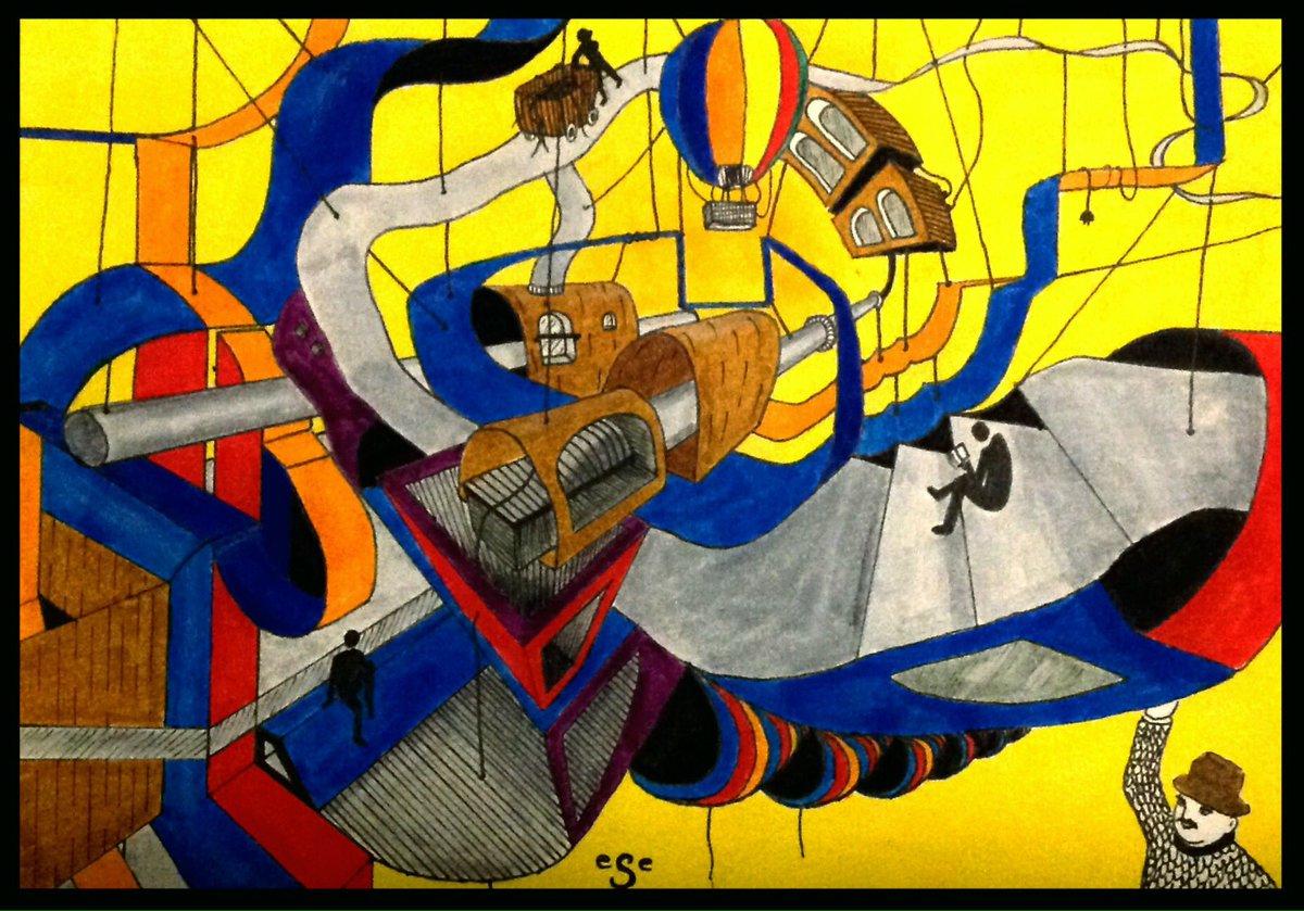 New #drawing &quot;suspended world&quot; #inktober2017 #inktober #art #artwork #illustration #sketchbook #contemporaryart #architecture #draw #dessin<br>http://pic.twitter.com/QVoMX3j9EG