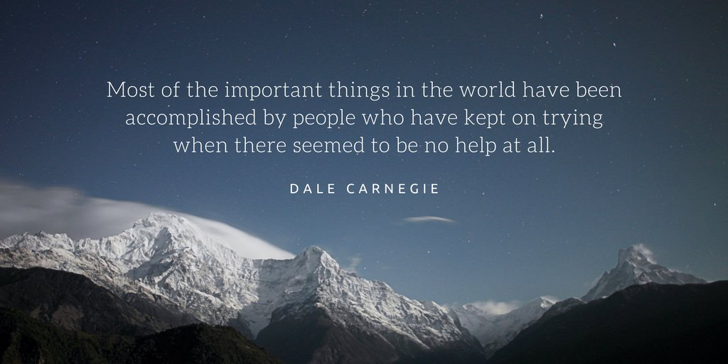 The most important things in life are accomplished by people who have kept  trying. #quotes #inspiration<br>http://pic.twitter.com/NpwlL7Os3F