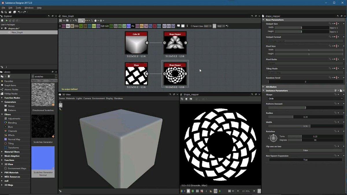 Substance Designer 2017.2: Shape Mapper  http:// bit.ly/2yEERSR  &nbsp;   #substancedesigner #gameart #gamedesign #geometric #gamedev #indiedev<br>http://pic.twitter.com/eljofuPdQb