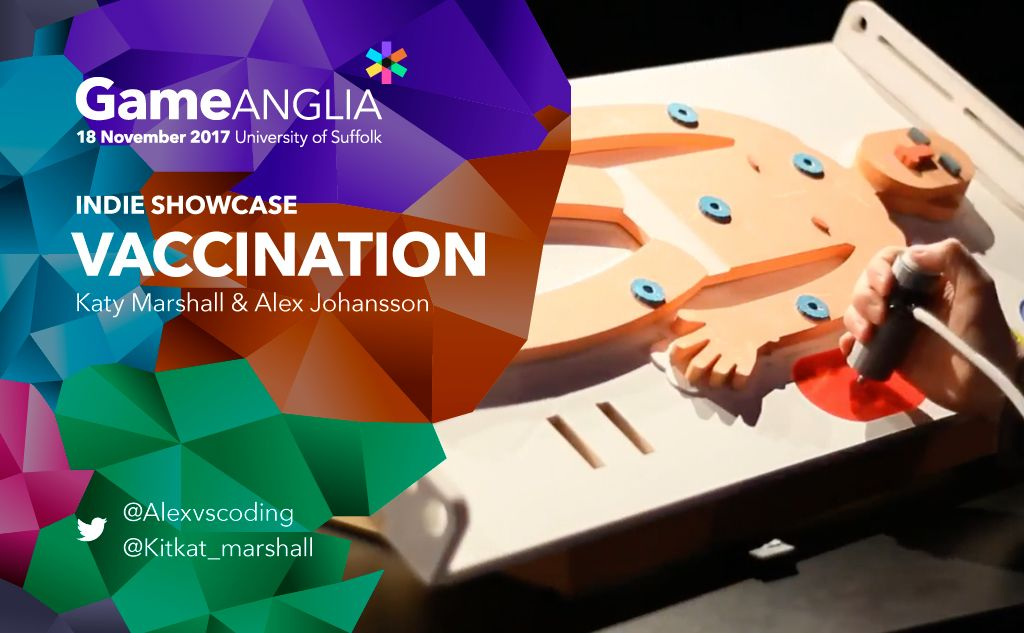 We&#39;re proud to be hosting @alexvscoding &amp; @kitkat_marshall&#39;s Vaccination in the Indie Showcase Area at, November 18. #indiegames #indiedev <br>http://pic.twitter.com/srqM1zmVY2