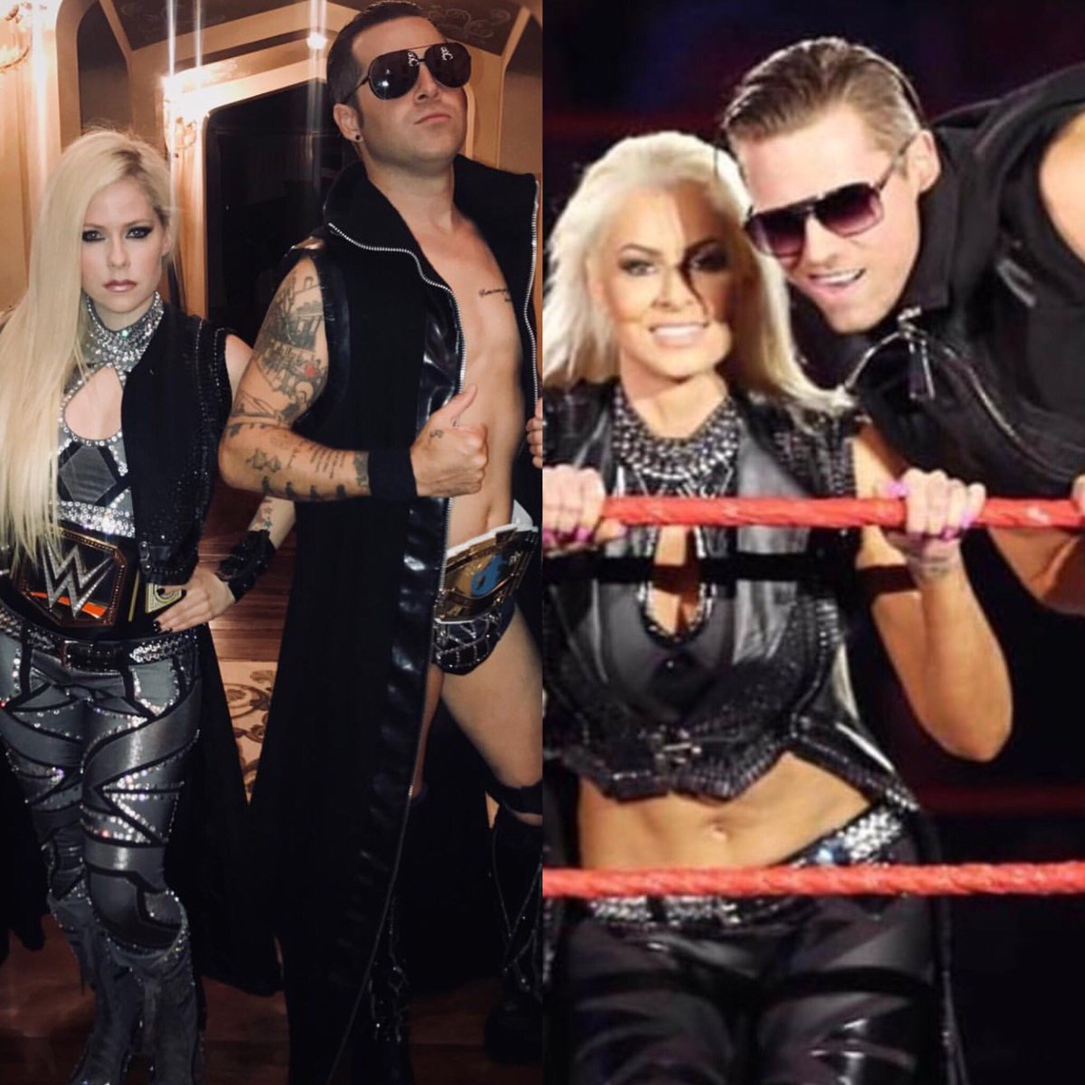 maryse mizanin on twitter are you seeing double greatest halloween costumes ever avrillavigne and ryancabrera are awesome