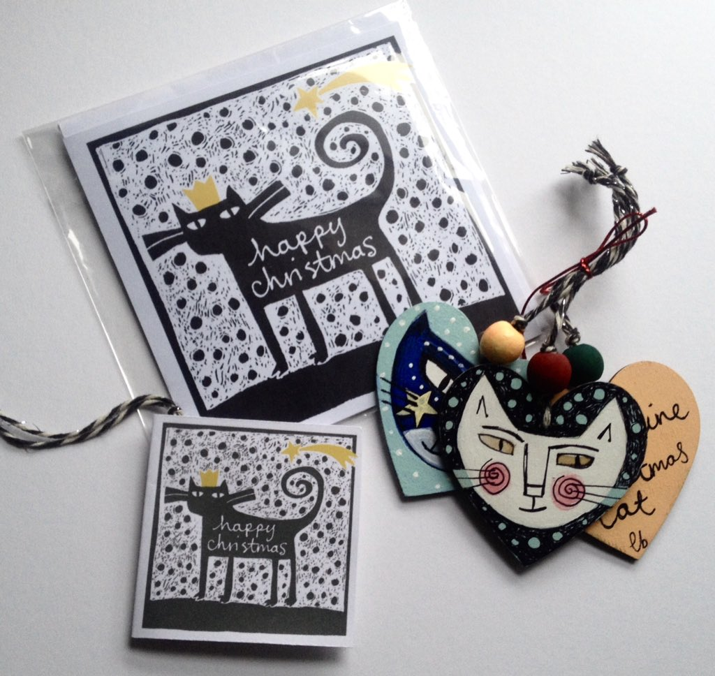 Cats! Hand drawn decorations. I&#39;m loving coordinating cards and tags with them. In my Etsy shop as we speak. #crafthour #Etsy #cats <br>http://pic.twitter.com/DtwrHLKO1E