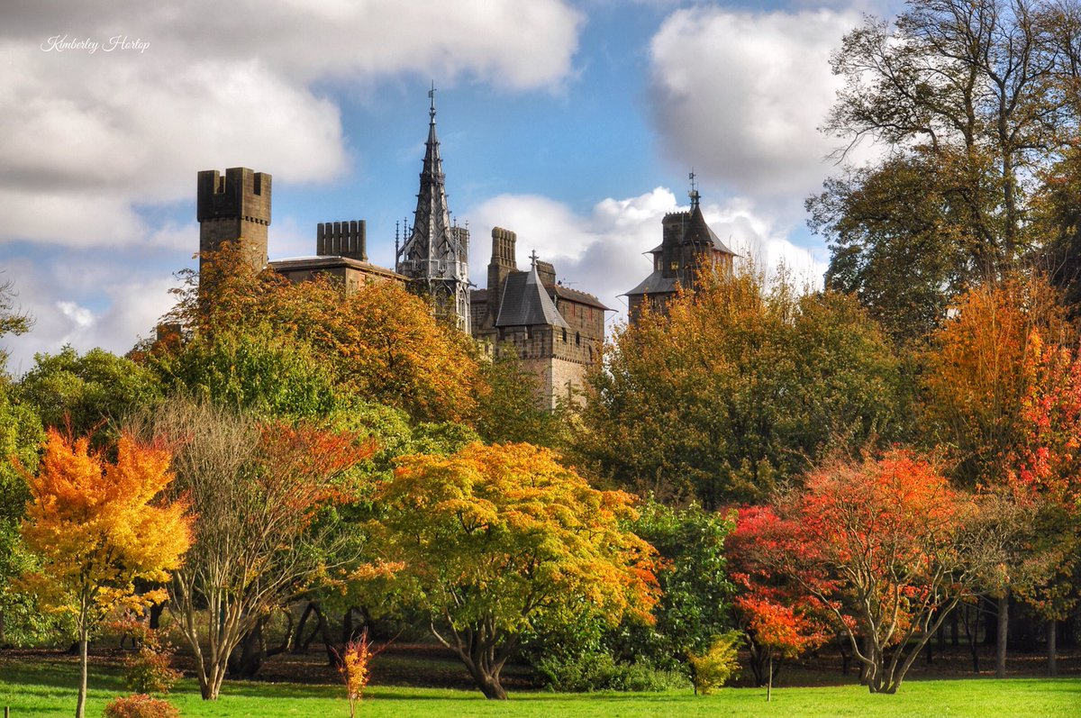 Cardiff Castle looking wonderful in the sunshine this afternoon, surrounded by autumn colour! @visitwales #Cardiff #Wales <br>http://pic.twitter.com/X2tek4MIdI