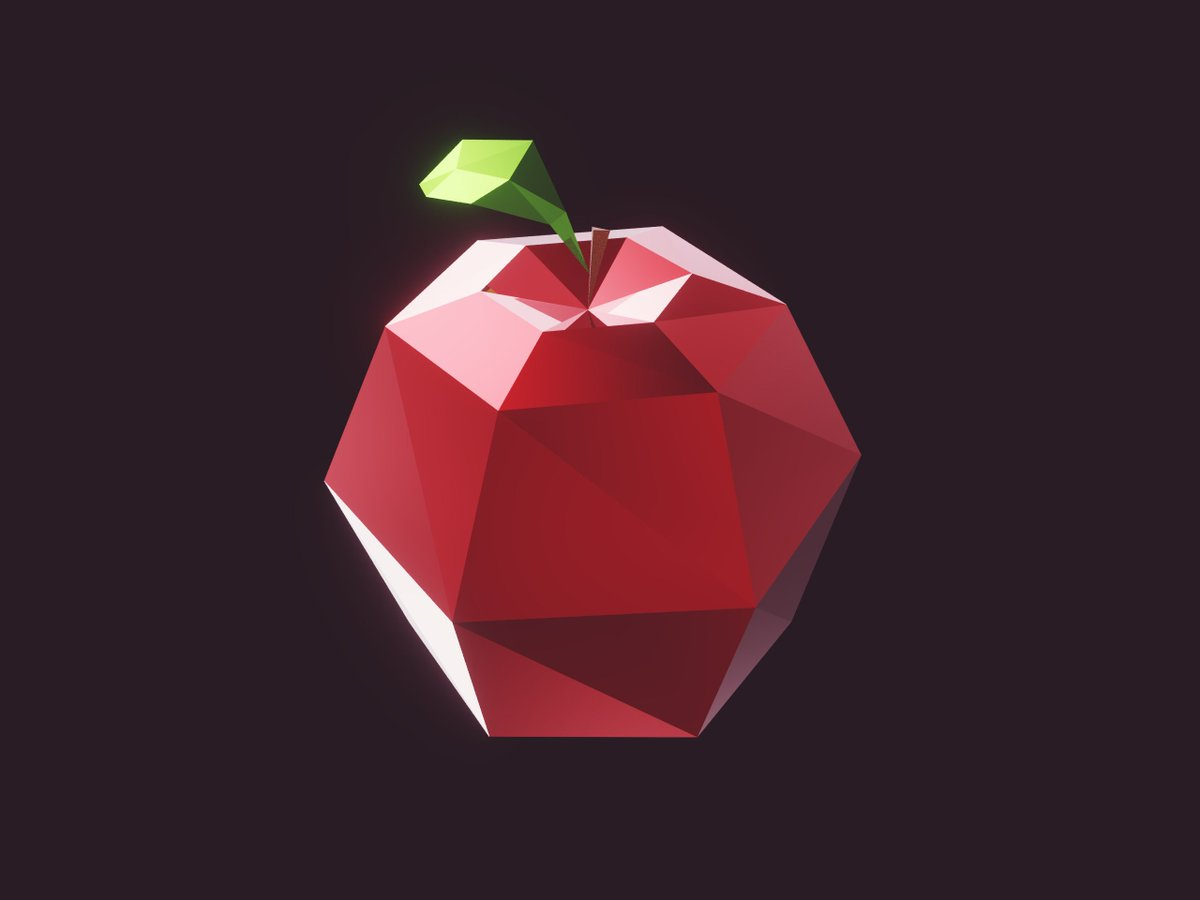 Just a sunday apple... #lowpoly #b3d #u3d #gamedev #indiedev #gaming<br>http://pic.twitter.com/FNNIzx77lm