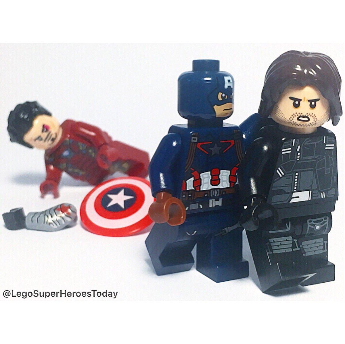 &quot;That shield doesn&#39;t belong to you...&quot;  #lego #marvel #mcu #captainamerica #buckybarnes #wintersoldier #sebastianstan #chrisevans #ironman<br>http://pic.twitter.com/rdeI6D4fOX