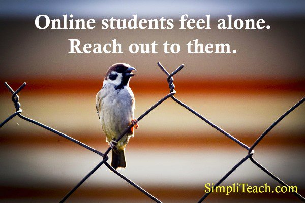A friendly &#39;checking in&#39; email to your #onlineclass can remind #students they&#39;re not all alone in the #elearning process. <br>http://pic.twitter.com/dWToB2LX76