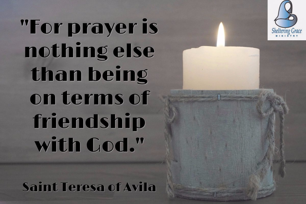 &quot;For #prayer is nothing else than being on terms of friendship with God.&quot; - Saint Teresa of Avila #quotes <br>http://pic.twitter.com/B30y7ycBwo