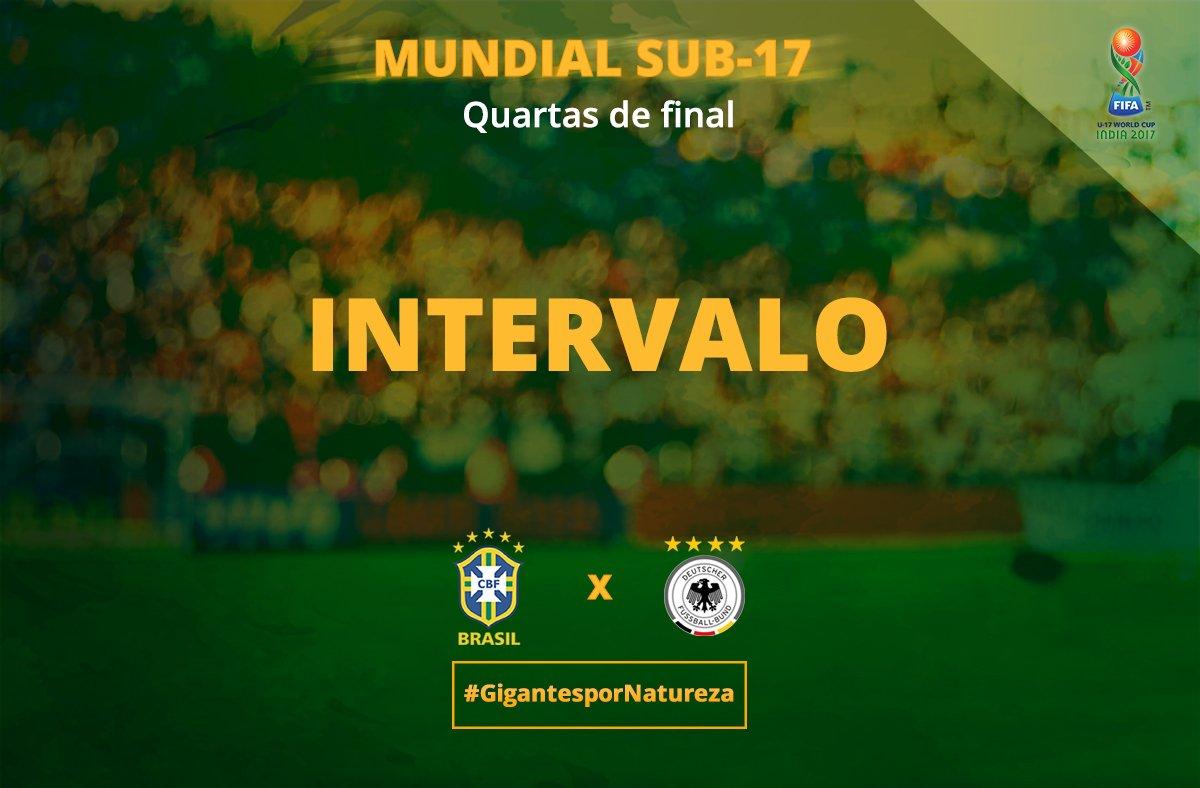 FIM DO PRIMEIRO TEMPO! #Brasil 0 x 1 Ale...