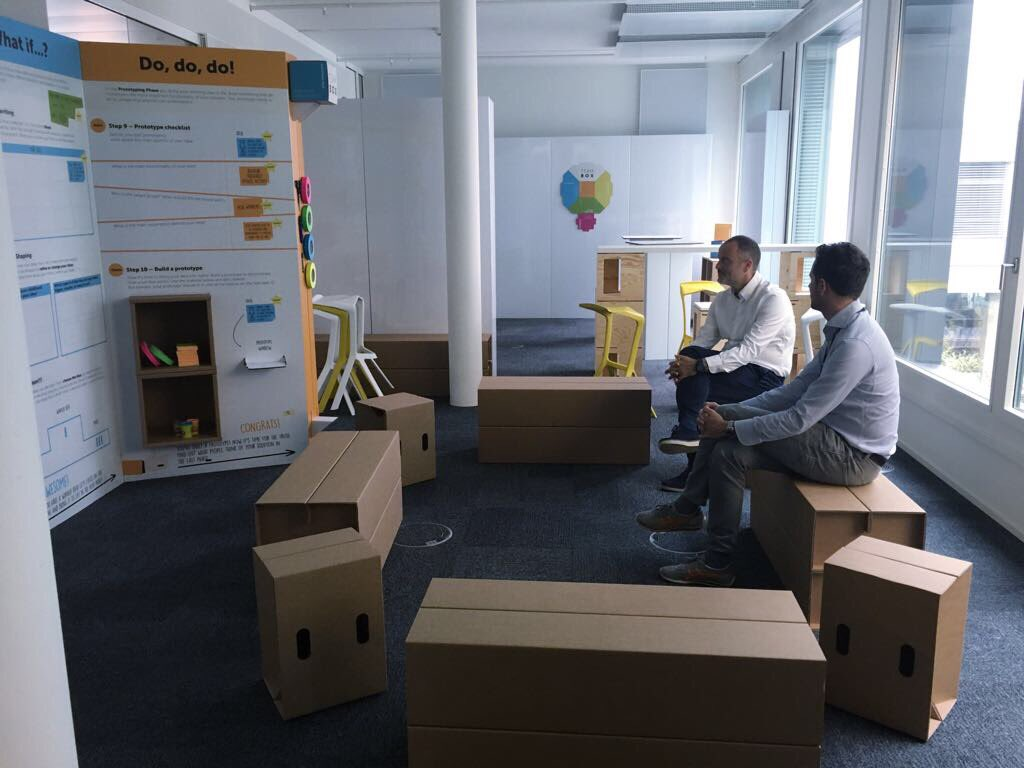 New project by @playroomrocks in #Basel #Switzerland #designthinking #playroom ready for launch with 57 #HR managers #playroomrocks<br>http://pic.twitter.com/JFctSBhXDB