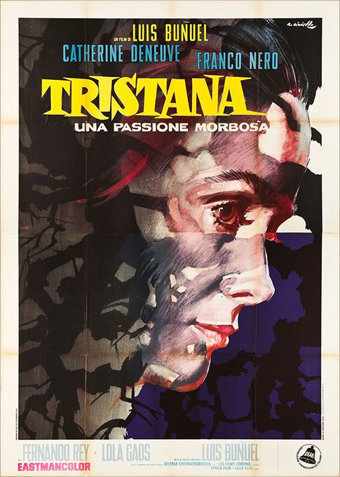 Happy Birthday to Catherine Deneuve - Buñuel s TRISTANA - 1970 - Italian release poster - Art by Averardo Ciriello