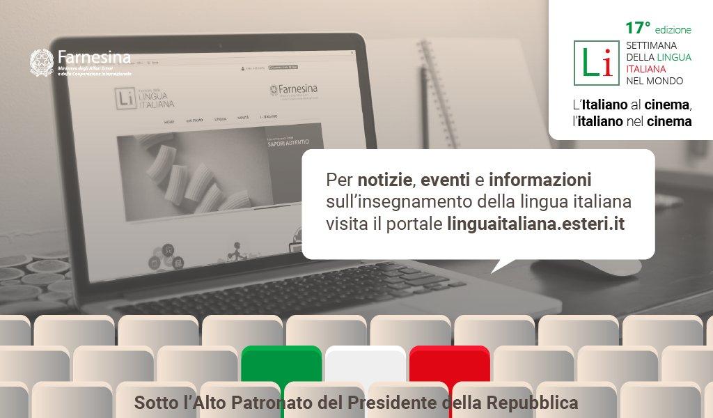 Termina oggi #SettimanaLinguaItaliana ma non si ferma qui l'attività della #Farnesina per diffondere l'italiano nel 🌍. Continuate a seguirci