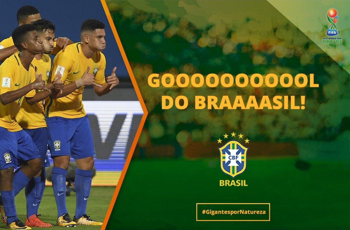 GOOOOOL DO BRASIL! Paulinho vira o jogo para a Seleção! #Brasil 2 x 1 Alemanha 🇧🇷🇩🇪#CopaDoMundoSub17  #GigantesPorNatureza