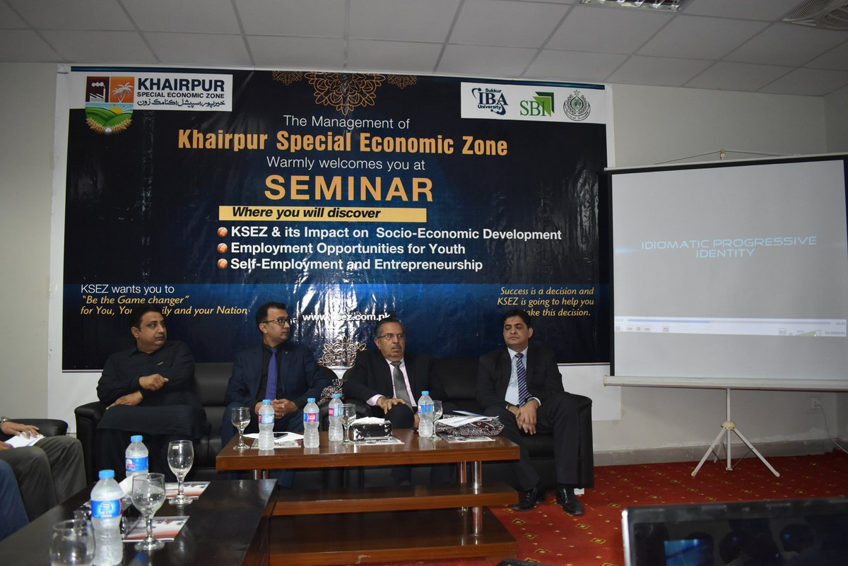 @KsezKhairpur Management organized Seminar - &quot;#KSEZ &amp; its impact on #socioeconomic development, self-employment &amp; #Entrepreneurship./1 <br>http://pic.twitter.com/L7xBzUe5RJ