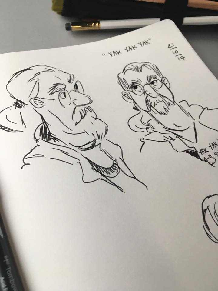 Passenger Sketching on yesterday&#39;s Enterprise service to Belfast, Northern Ireland! #sketching #travelling #sketchbook #drawing<br>http://pic.twitter.com/miJpOHAoCL