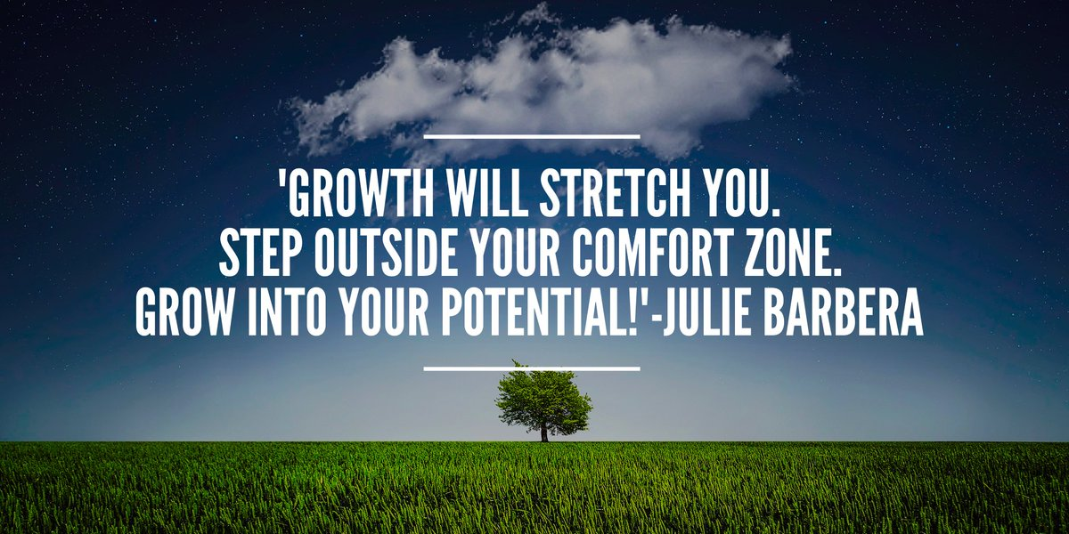 &#39;Keep your eye on the #goal #Growth will stretch you.Step outside your #ComfortZone #Grow into your #potential !&#39; #ThinkBIGSundayWithMarsha<br>http://pic.twitter.com/5t1zjpIwce