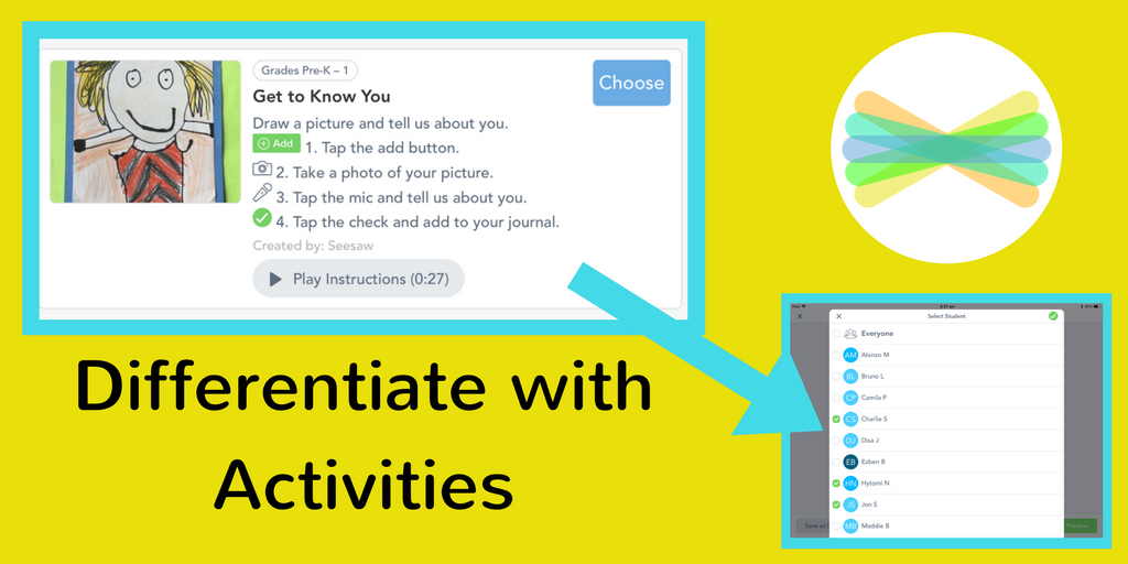 Seesaw On Twitter Differentiate Instruction By Sharing Activities