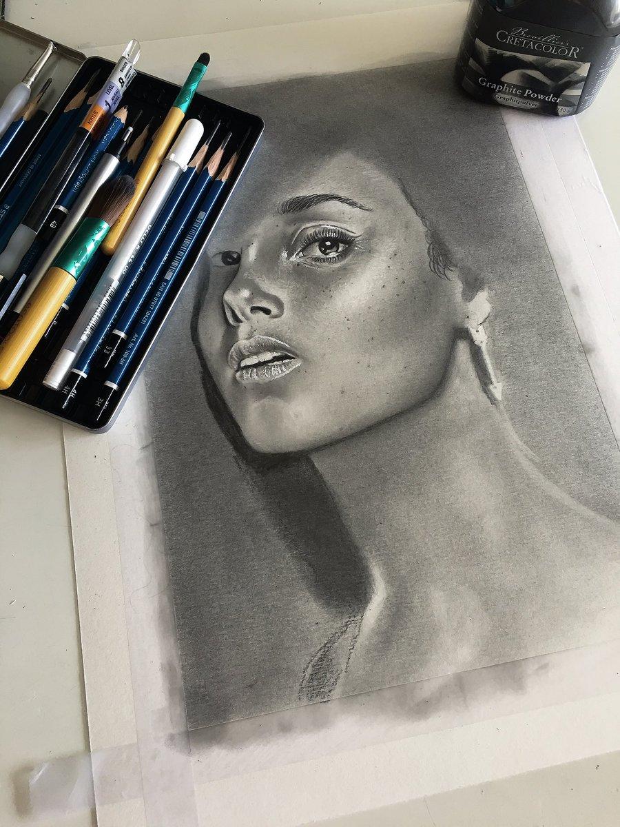 Day 2 #drawing #AliciaKeys  #ArtStream on @WatchMixer  #DrawingInProgress #PencilDrawing<br>http://pic.twitter.com/Tmm41U6ScJ