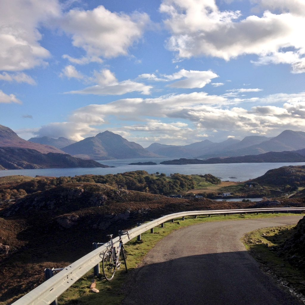 there can be few finer places to ride a bike #nc500 @NorthCoast500 Wester Ross #Scotland <br>http://pic.twitter.com/tEYNy3AVfK