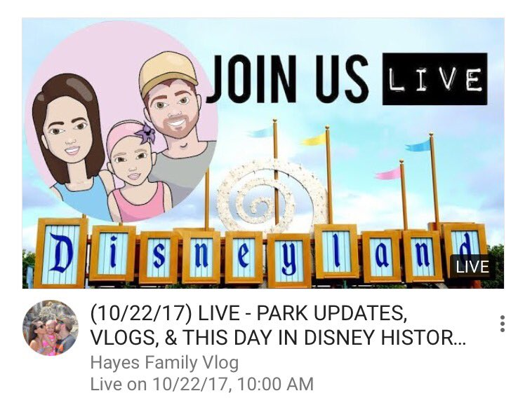 https:// youtu.be/YjLrn-6-Zp8  &nbsp;   Who&#39;s joining us this morning ?  #disneyland  #disney #alopeciaawareness #youtubers #support #YoutubeLive<br>http://pic.twitter.com/FZqE3iqNq6