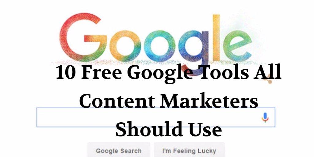 10 Free Google Tools All Content Marketers Should Use   http:// dld.bz/gfafJ  &nbsp;    #contentmarketing #marketingtips #onlinemarketing <br>http://pic.twitter.com/lJ2JKQmiJ0