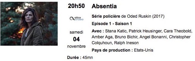 #Absentia is coming to my country in November!!! @AbsentiaSeries @Stana_Katic<br>http://pic.twitter.com/PuCUkXwimS