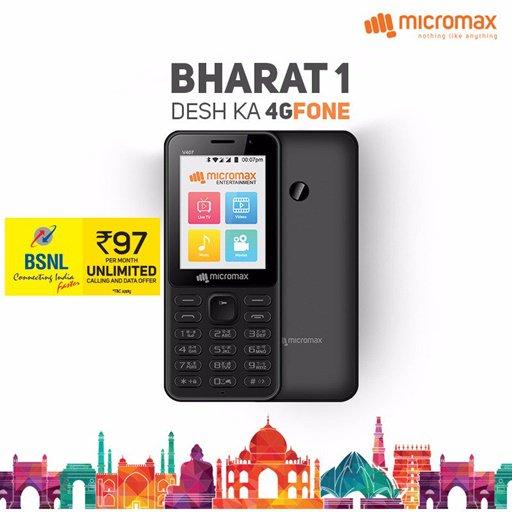BSNL Rs. 97 Plan Details for Micromax Bharat 1 4G VoLTE Phone https://t.co/vu9PeD34dv https://t.co/SYYZTy66Rk
