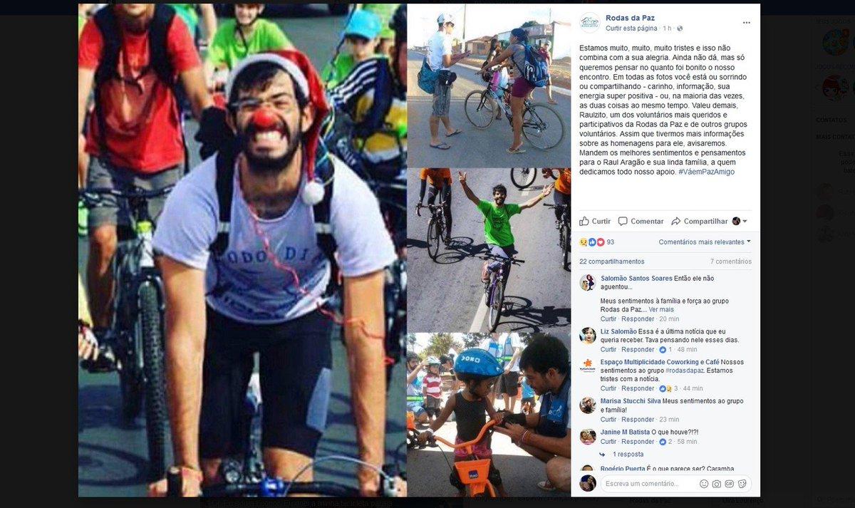 Morre atropelado ciclista que promovia ações pela segurança no trânsito de Brasília https://t.co/LFqeqEN1gI