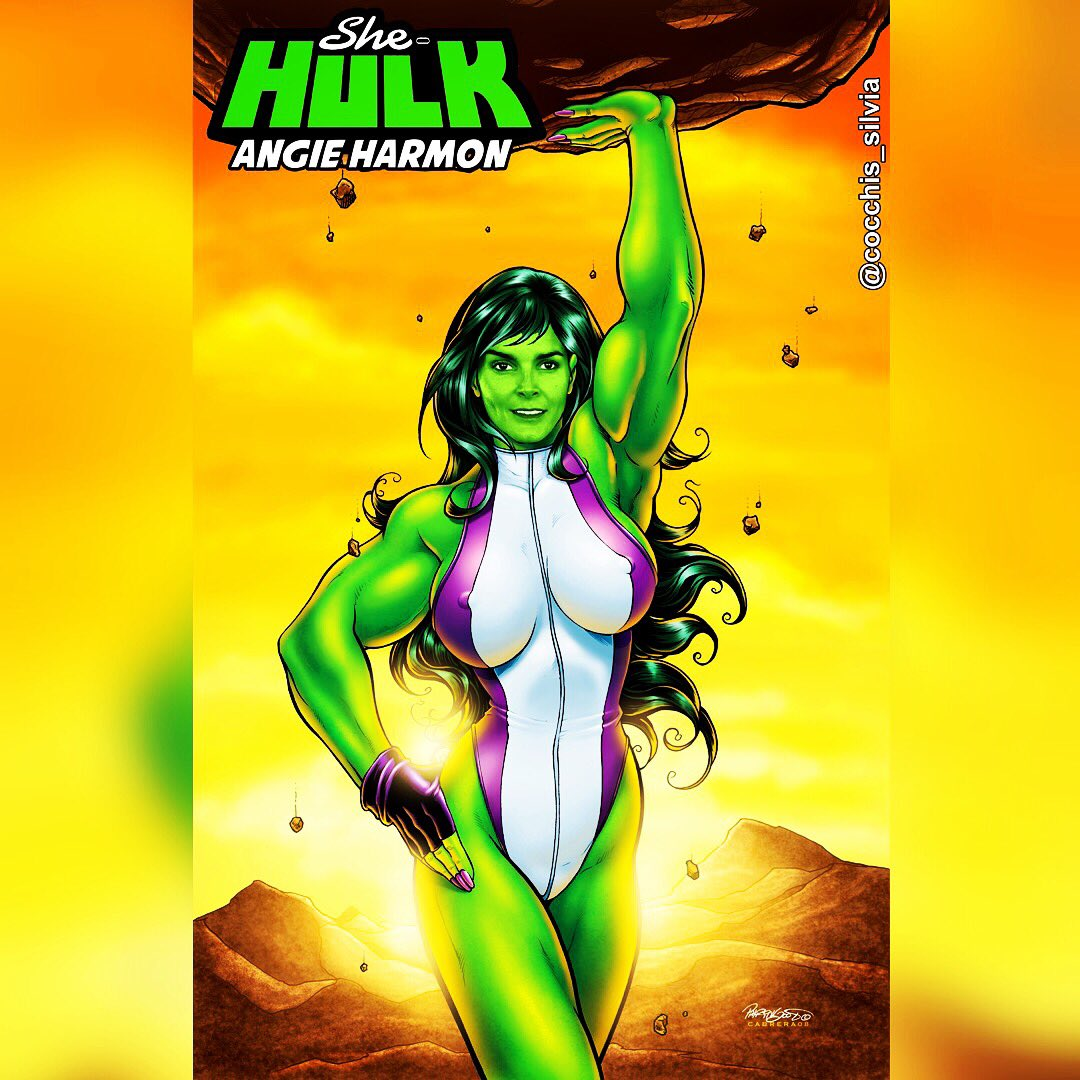 Continue my campaign for #AngieHarmonForSheHulk please RT and partecipate for help Angie @Angie_Harmon to live her #beautiful dream  <br>http://pic.twitter.com/9uZzrk6cq0