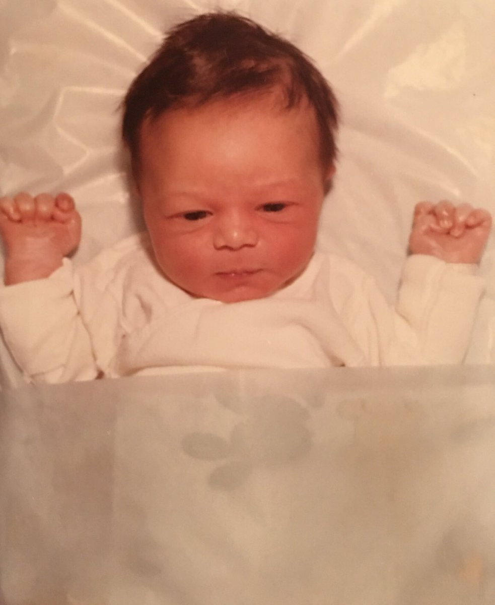 This was the 1st ever picture taken of me the day I was born 40 years ago today! I had more hair then than I do now! #HappyBirthday to me  <br>http://pic.twitter.com/cphGUmaoiw