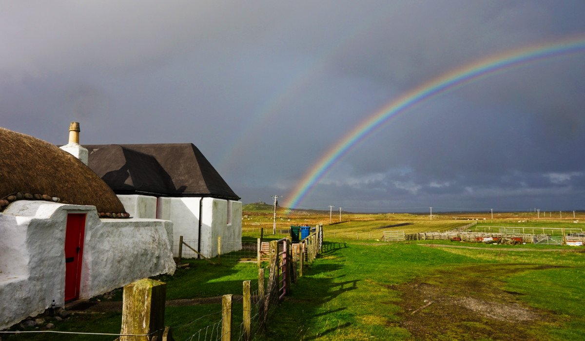 A wonderful day of rainbows here on Tiree today. I hope your Sunday has been just as lovely.  #Scotland #rainbow<br>http://pic.twitter.com/DZpNQujynL