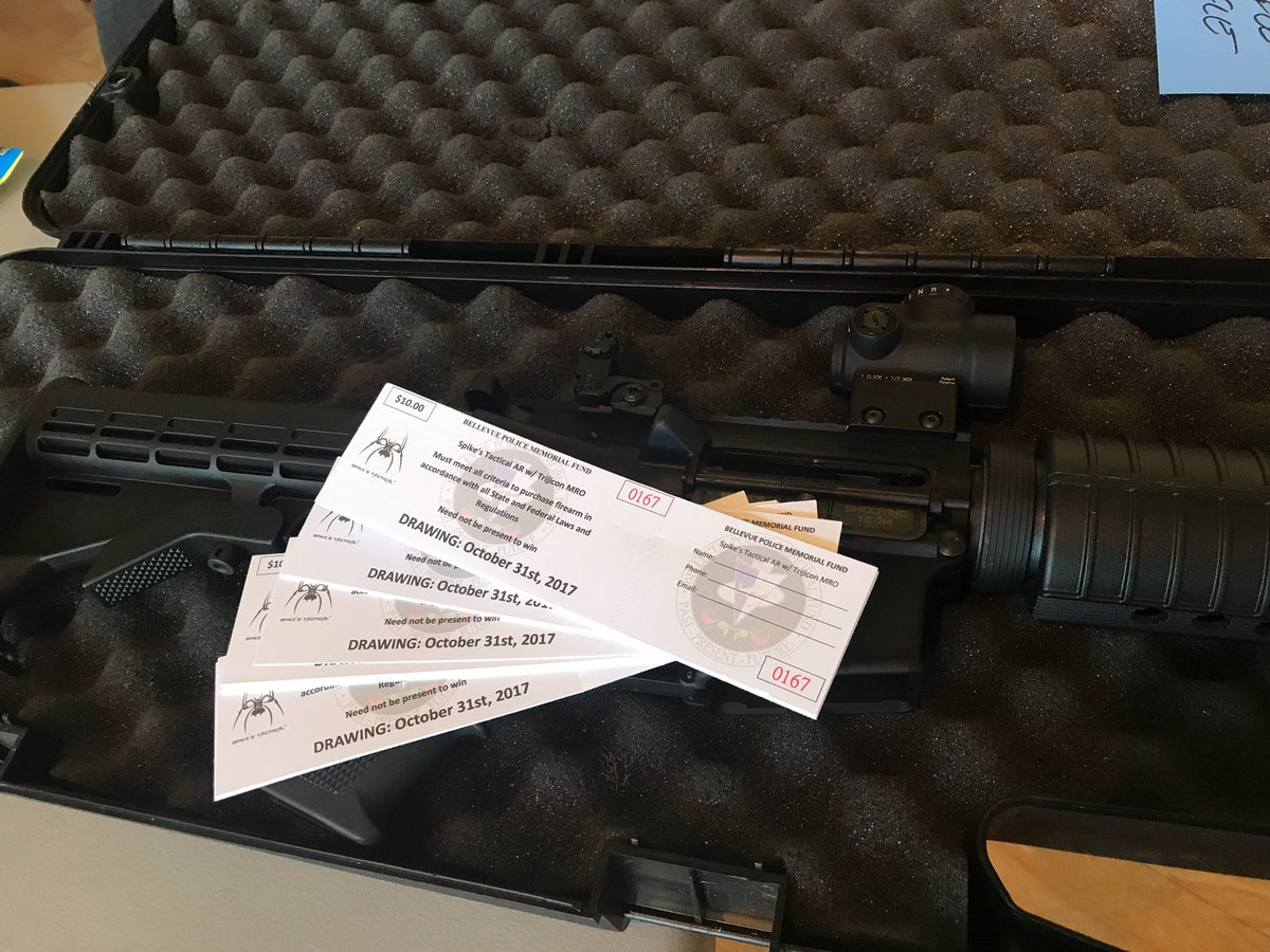 Hanging out at Take Aim w/ raffle tickets for our newest fundraiser!  Here till 330. #MRO #SpikesTactical #PoliceMemorial<br>http://pic.twitter.com/jyDEnjJBrP