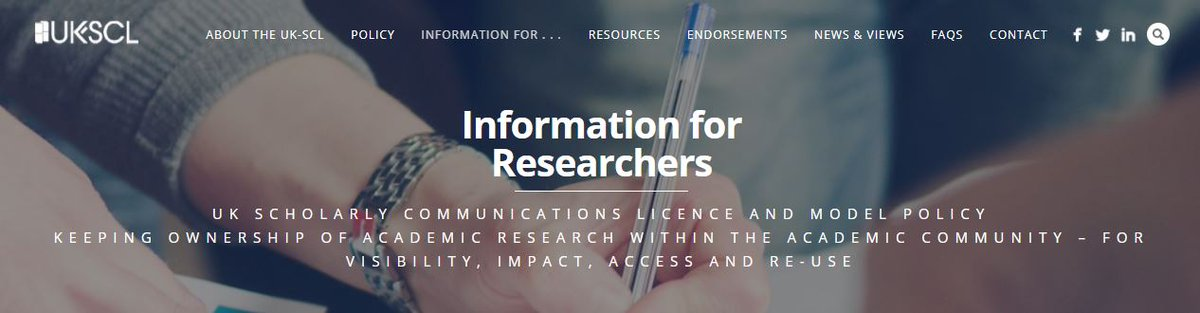 UK Scholarly Communications Model Policy and Licence #UKSCL #OAweek #OA #LegalScholarlySharing  https://www. slideshare.net/secret/pNbYX1s MfVmLZo &nbsp; … <br>http://pic.twitter.com/k7Zzo5q06Y