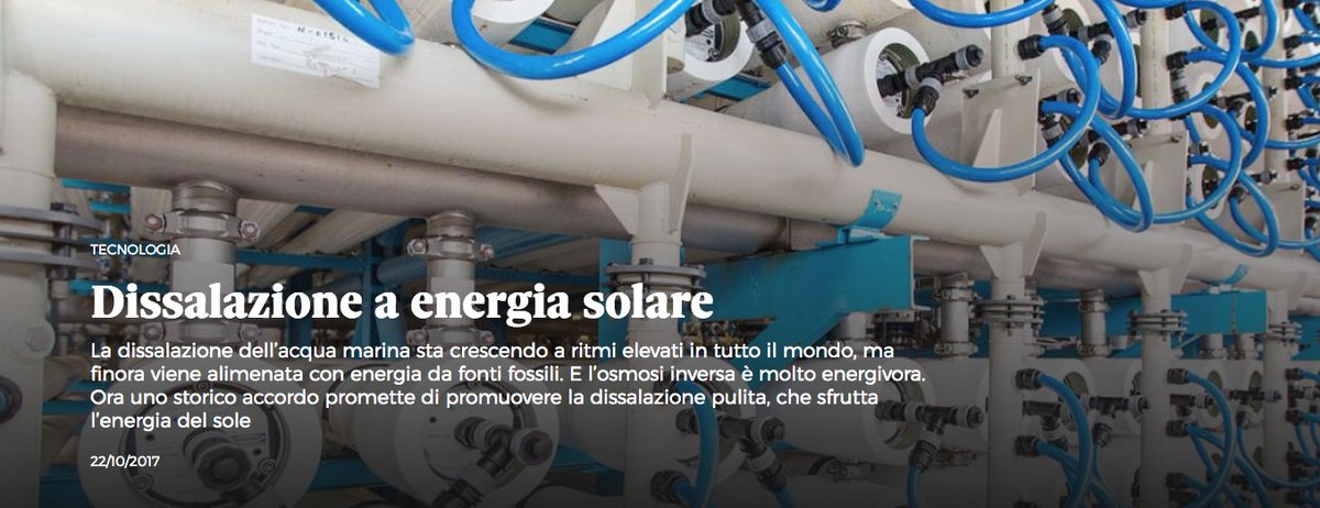 #DrinkMe, chasing the #solar answer for #sustainable #WaterDesalination, Alleanza globale tra #dissalatori e #solari  http:// nova.ilsole24ore.com/progetti/dissa lazione-a-energia-solare/ &nbsp; … <br>http://pic.twitter.com/BUzkKJYtD2