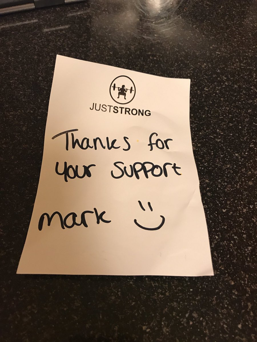 Love getting hand written notes with your order! I can't wait to try my new workout gear.  #workout #notes #juststrong #strongwomen<br>http://pic.twitter.com/BuUsyFmQCg