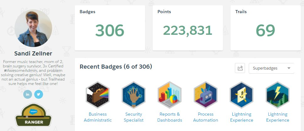 Thanks @Trailhead 4 Helping me become a #Trailblazer and finding JOY as an #AwesomeAdmin #Lifechanging #SecondCareer #YouCanDoIt <br>http://pic.twitter.com/vwKMDlhYwg