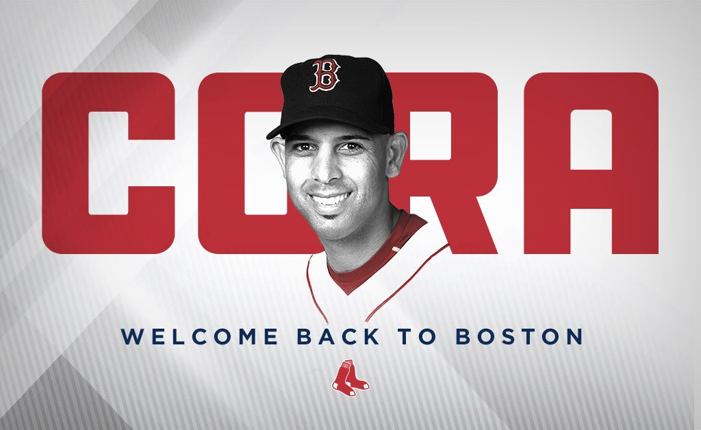 The 47th manager of the Boston #RedSox, Alex Cora!   Welcome, @ac13alex! 👏👏👏