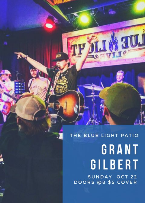 Sunday funday on the @BluelightLive patio tonight w/ @GGilbertMusic doors at 8pm $5 cover #party <br>http://pic.twitter.com/YpgYvA1OaX