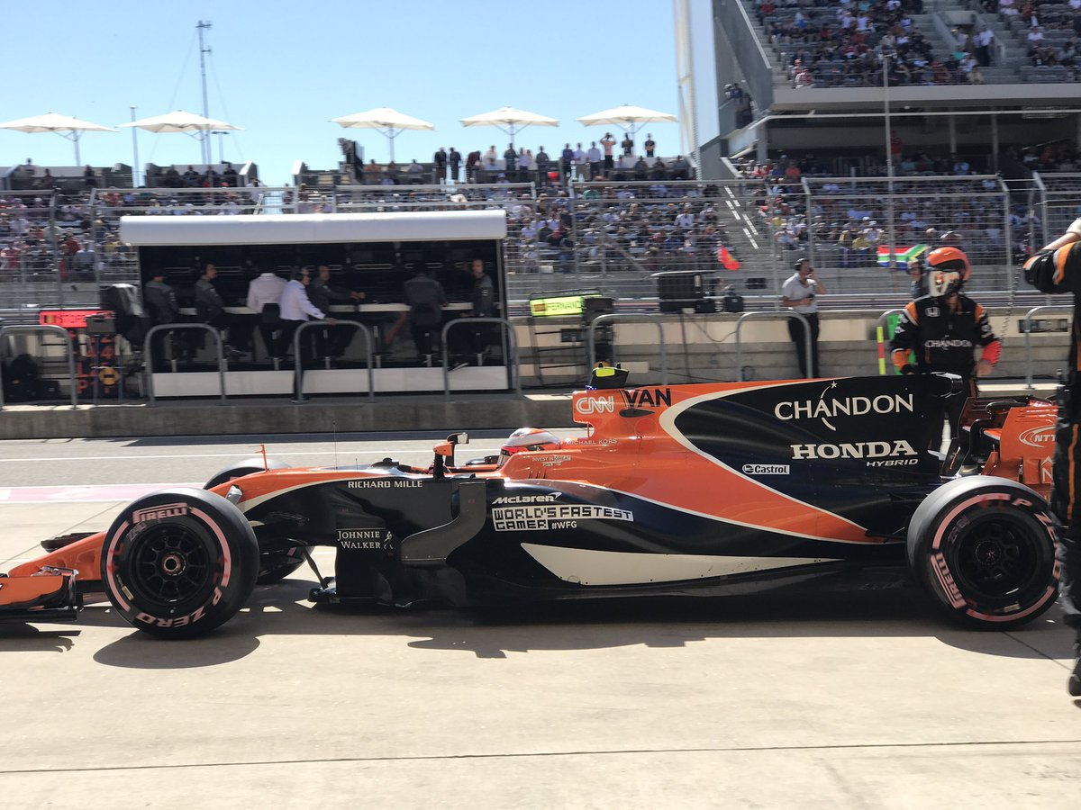 A pitstop for stoff as fernando retires his car we re not sure of the issue but we ll investigate usgppic twitter com unc4fysfif