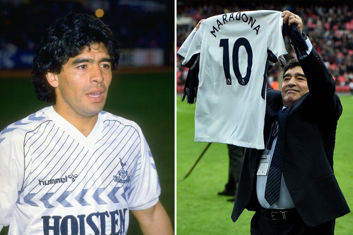 diego maradona spurs shirt
