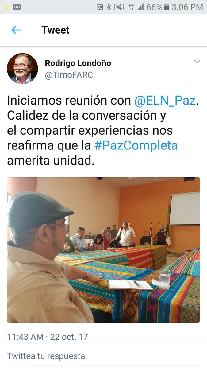 Santos sent subhuman FARC leaders to #Ecuador to negotiate &quot;peace&quot; on his behalf with ELN terrorists.  @realDonaldTrump @IntlCrimCourt @VP<br>http://pic.twitter.com/FVnFt4JS5q